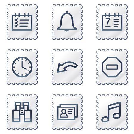 todo: Organizer web icons, white stamp series