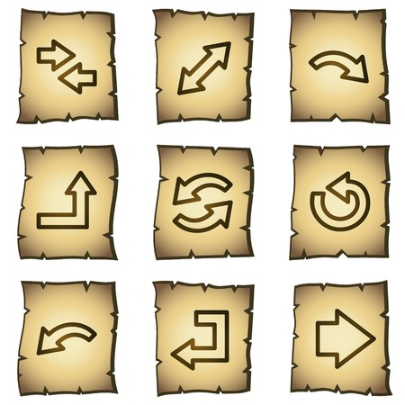 Arrows web icons set 1, papyrus series Vector