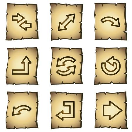 papiro: Arrows web icons set 1, serie di papiro