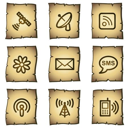 Communication web icons, papyrus series Vector