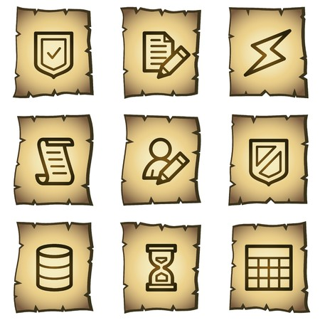 Database web icons, papyrus series Stock Vector - 7004460
