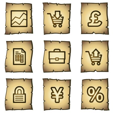 E-business web icons, papyrus series Vector