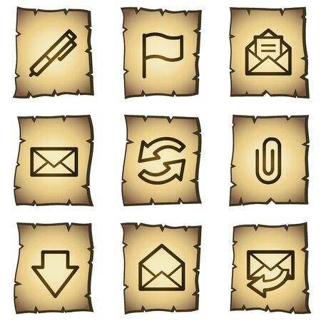 E-mail web icons, papyrus series Vector