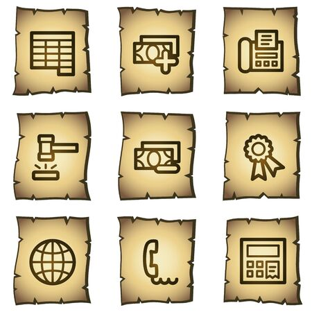 Finance web icons set 2, papyrus series Stock Vector - 7004491
