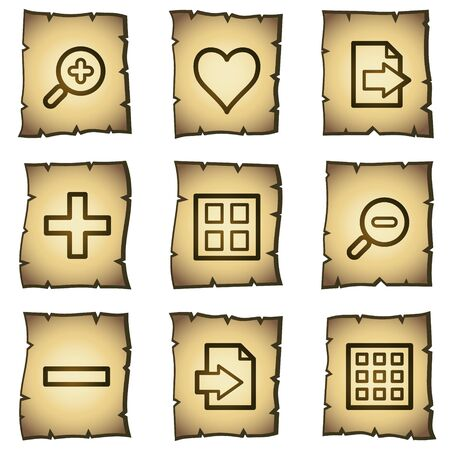 Image viewer web icons set 1, papyrus series Vector