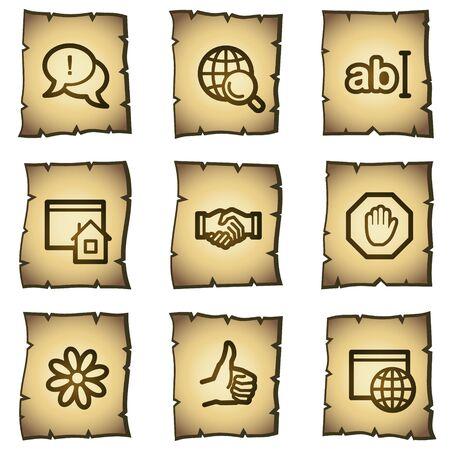 Internet web icons set 1, papyrus series  Vector