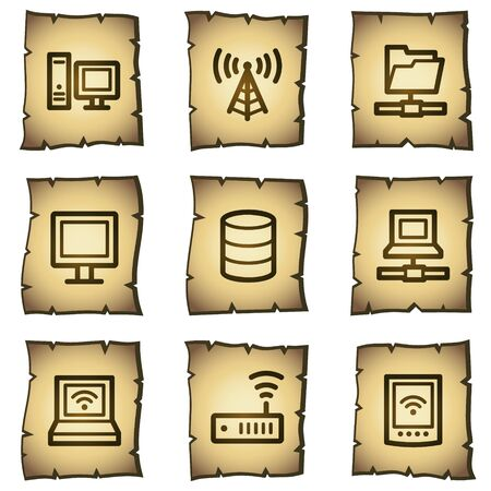 Network web icons, papyrus series Vector