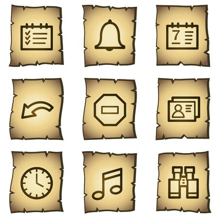 Organizer web icons, papyrus series Vector