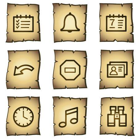 Organizer web icons, papyrus series Stock Vector - 7004463