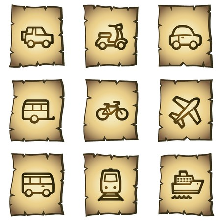 air liner: Transport  web icons, papyrus series