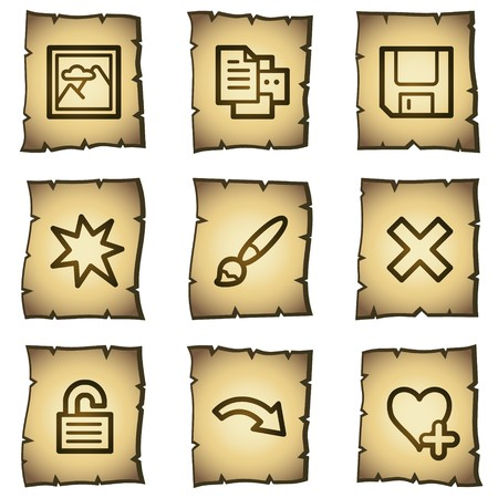 Image viewer web icons set 2, papyrus series Vector