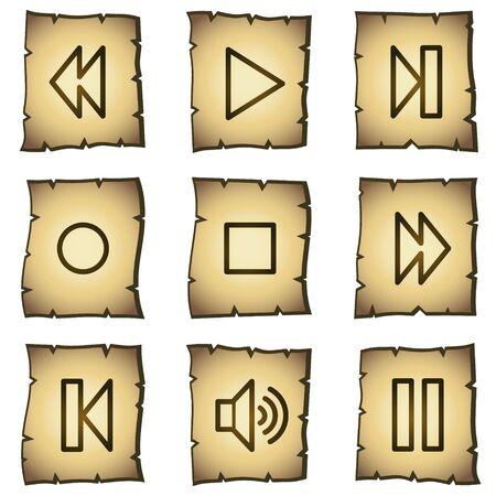 pausa: iconos de Web, serie de papiro  Vectores