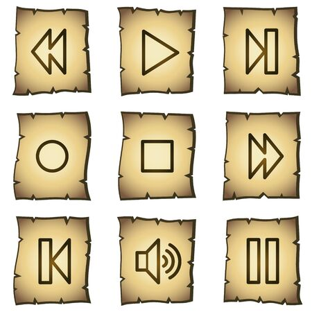 play button:  web icons, papyrus series Illustration