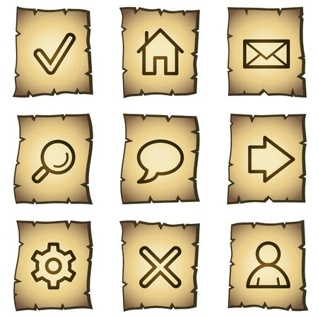 Basic web icons, papyrus series Vector