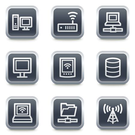 access point: Network web icons, grey square buttons