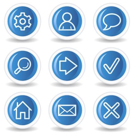 buttons: Pulsanti di lucido cerchio blu, le icone web di base