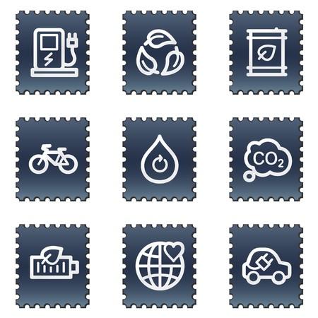 Ecology web icons set 4, navy stamp series photo