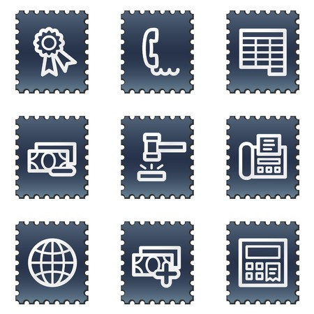 Finance web icons set 2, navy stamp series Stock Photo - 7339257