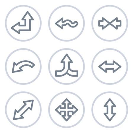 move arrow icon: Las flechas web conjunto de iconos de 2, serie de c�rculo blanco