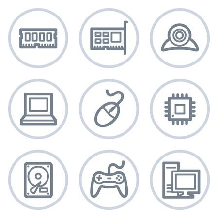 ddr: Computer web icons, white circle series