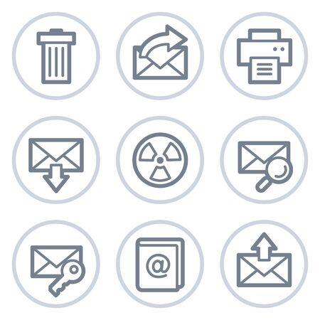 webmail: E-mail web icons set 2, white circle series