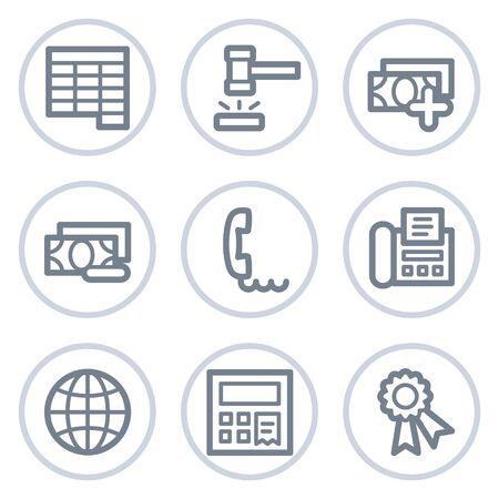 Finance web icons set 2, white circle series Stock Vector - 7422759