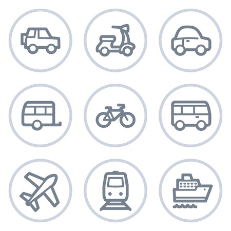 air liner: Transport  web icons, white circle series