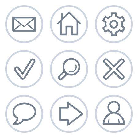 preferences: Basic web icons, white circle series Illustration