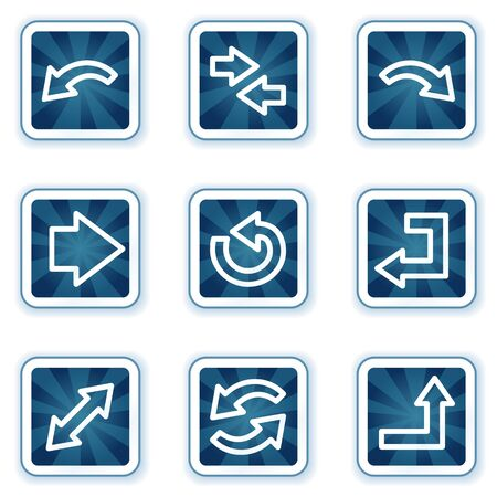 back button: Arrows web icons set 1, navy square buttons