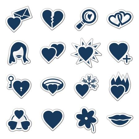 hot lips: Serie de pegatina de iconos, Marina de web del amor