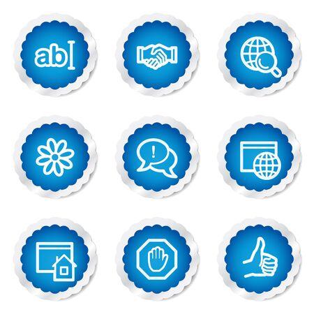 icq: Internet web icons set 1, blue stickers series