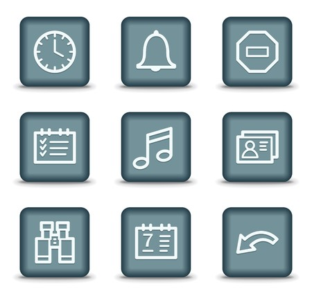 todo: Organizer web icons, grey square buttons