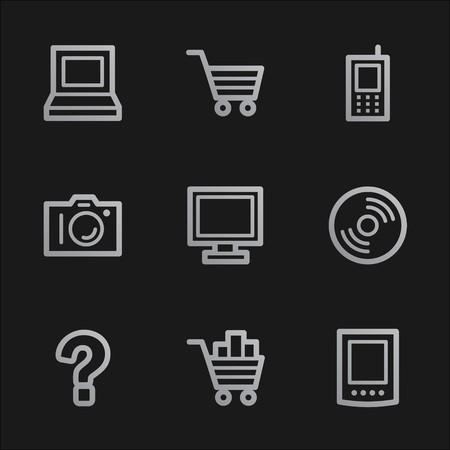Electronics web icons set 1, grey mobile style Stock Photo - 7750057