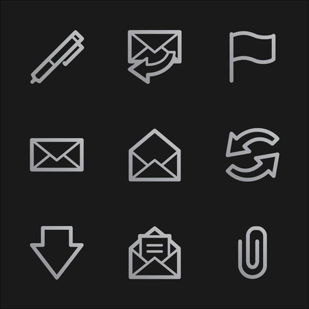 E-mail web icons, grey mobile style photo