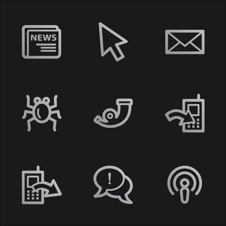Internet web icons set 2, grey mobile style Stock Photo - 7750035