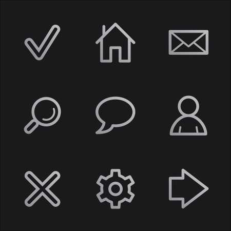 Basic web icons, grey mobile style Stock Photo - 7750059