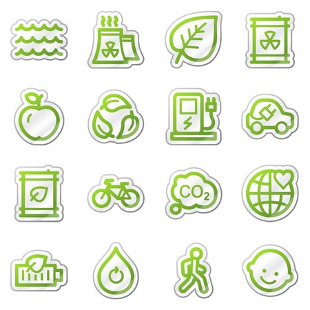 Ecology web icons set 2, green sticker series photo