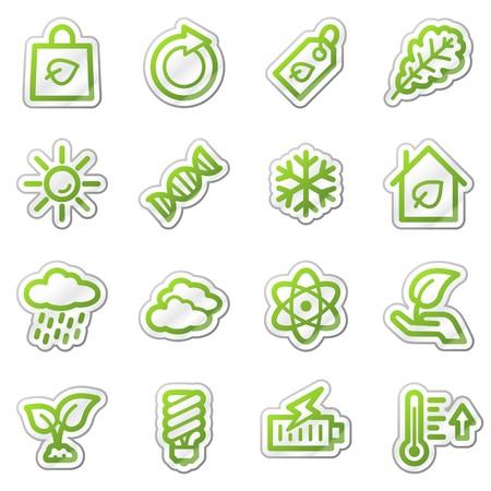 Ecology web icons set 3, green sticker series photo