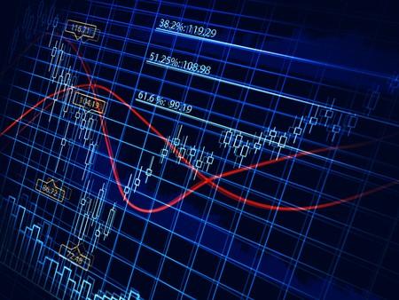 handel: Abstrakt stock-Diagramm