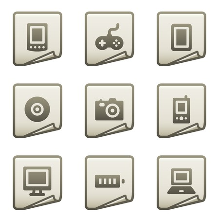 Electronics web icons, document series Stock Vector - 7866681