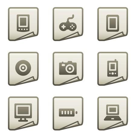 Electronics web icons, document series Stock Vector - 7866681
