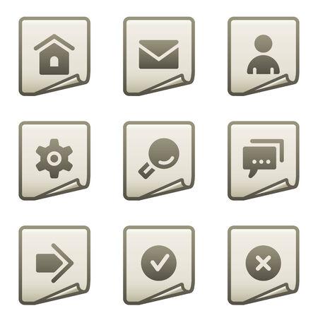 Basic web icons, document series Stock Vector - 7866679