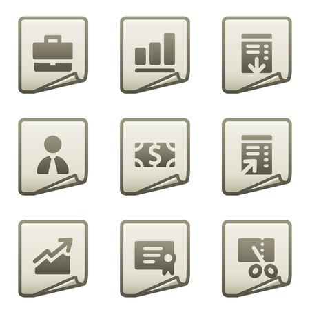 Finance web icons set 1, document series Vector