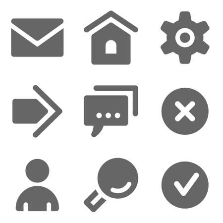 sign ok: Basic web icons, grey solid series