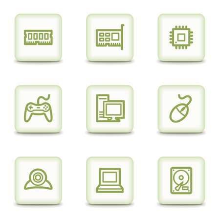 ddr: Computer web icons, white glossy buttons