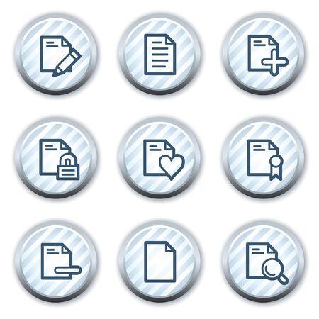 strippad: Document web icons set 2, stripped light blue circle buttons