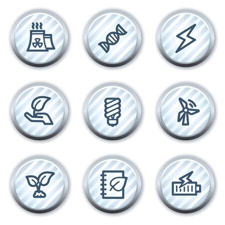 strippad: Ecology web icons set 5, stripped light blue circle buttons