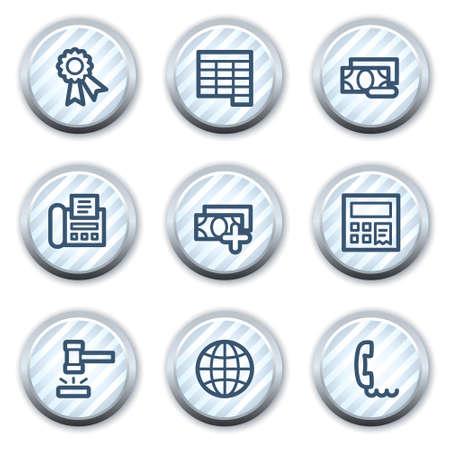 strippad: Finance web icons set 2, stripped light blue circle buttons Illustration