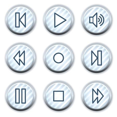 strippad:   web icons, stripped light blue circle buttons