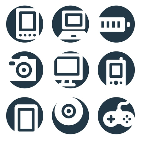 Electronics web icons, crop series Stock Vector - 8768112